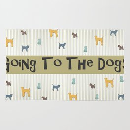 Going To The Dogs Plaid Terriers Rug