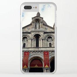 Sacred Heart Paris Clear iPhone Case