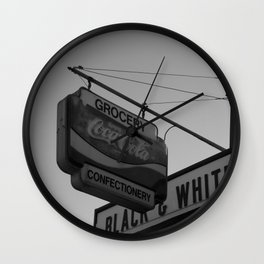 Black and White Grocery 2 Wall Clock