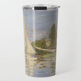 Claude Monet Regattas at Argenteuil Travel Mug