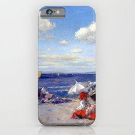 William Merritt Chase At the Seaside iPhone Case