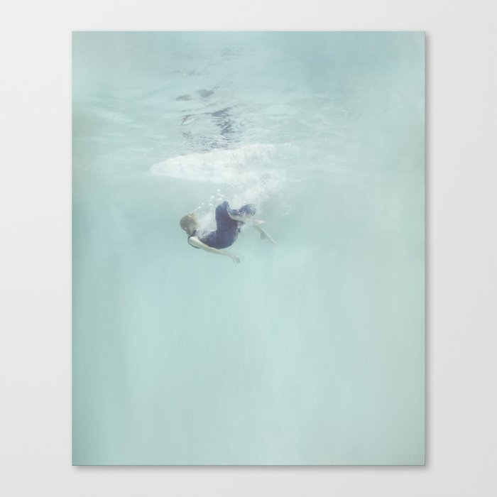 Woman Falling In Canvas Print