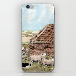 Farm Shed with Sheep iPhone Skin