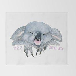 Sleepy Koala Throw Blanket