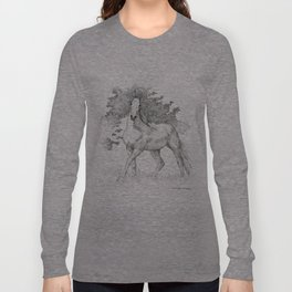Saddlebred Horse Long Sleeve T-shirt