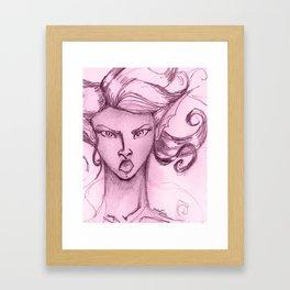 Badass Mermaid Framed Art Print