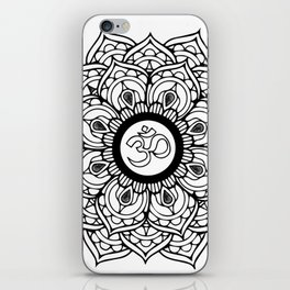 Om Hindu sacred sound symbol Mandala iPhone Skin