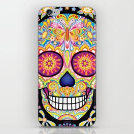 Sugar Skull Art (Mariposa) iPhone Skin