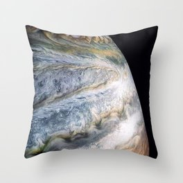 Jupiter Surface Long Range Fly-By Telescopic Photograph Throw Pillow