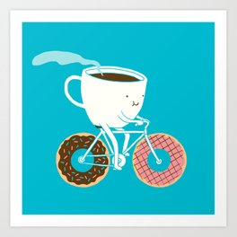 Coffee and Donuts Art Print