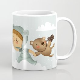 Little boy in blue Coffee Mug