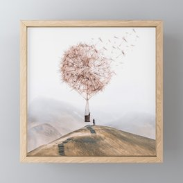 Flying Dandelion Framed Mini Art Print
