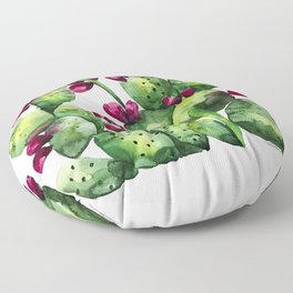Prickly, Prickly Pear Cactus Floor Pillow