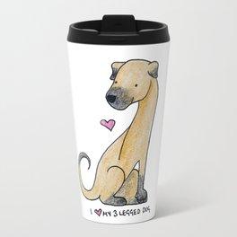 I Love My 3-Legged Dog Travel Mug