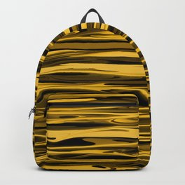 Honey Yellow Abstract Drizzle Backpack
