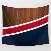 england Wall Tapestries featuring Wooden New England by Nicklas Gustafsson