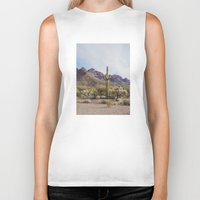 arizona Biker Tanks featuring Arizona Cactus by Kevin Russ