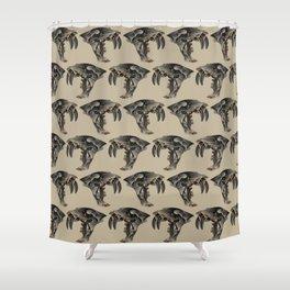 Ancient Warrior (Sabertooth Skull) Shower Curtain