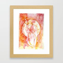 Goddess of Aries - A Fire Element Framed Art Print
