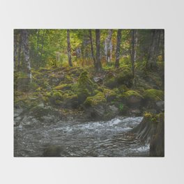 Mountain River Throw Blanket