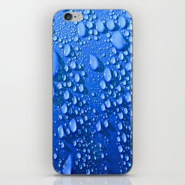 Raindrops on Blue iPhone Skin
