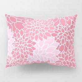 Bubblegum Pink Dahlias Pillow Sham