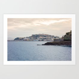 Procida Island seen from Sea Art Print