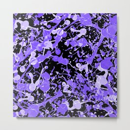 Ultraviolet Splash Metal Print