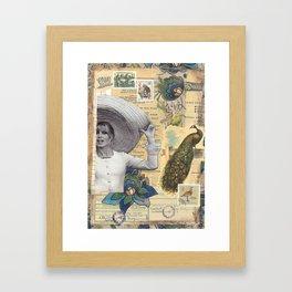"""Collage  Brigitte Bardot - """"All Around My Hat"""" Framed Art Print"""