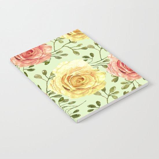Watercolor Roses #6 Notebook
