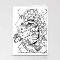 apollonia Stationery Cards featuring asc 487 - L'invocation (The summoning) by From Apollonia with Love