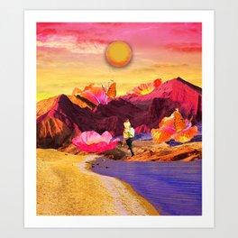 Vibrant love Art Print