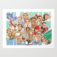 robin williams Art Prints featuring Robin Williams by Arashi.C