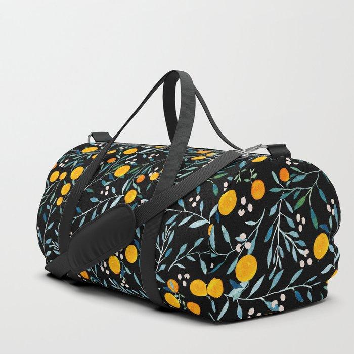 Oranges Black Duffle Bag