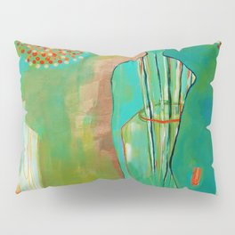 """""""Wish Believe"""" Original Painting by Flora Bowley Pillow Sham"""