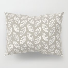 Minimalist Leaves in Gray Pillow Sham