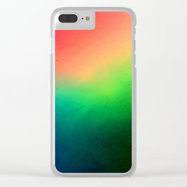 Where to? Textured rainbow color blur Clear iPhone Case