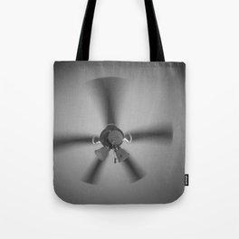 Gray Spin Tote Bag