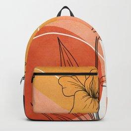 Vibrant Flower Design 4 Backpack