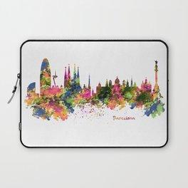 Barcelona Watercolor Skyline Laptop Sleeve