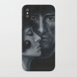 Portrait of Neil Gaiman and Amanda Palmer iPhone Case