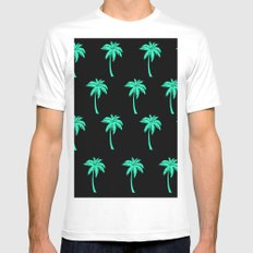 Palm Trees everywhere Mens Fitted Tee MEDIUM White