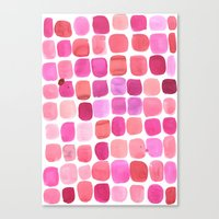 lipstick Canvas Prints featuring Lipstick by Amy Sia