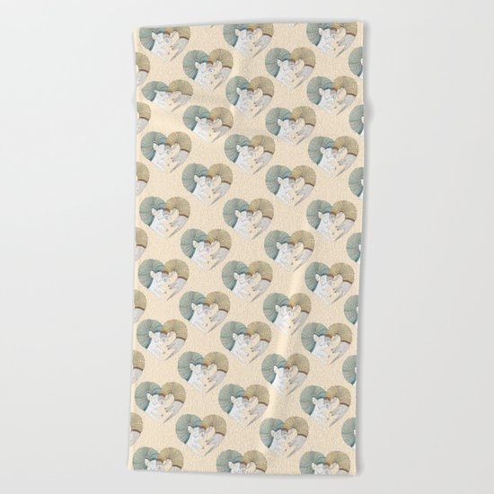 Ferret Sleep Love Beach Towel