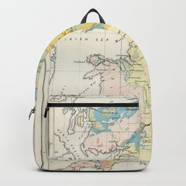 Vintage Map of the Coal Fields of Great Britain Backpack
