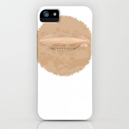 Airship in graphic style. Beige colors.  iPhone Case