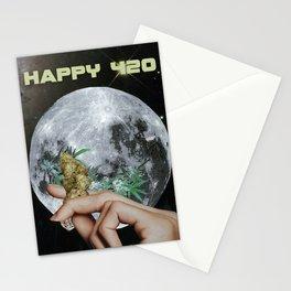 Happy 420 Moon Stationery Cards