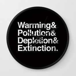 Ecology Issues Wall Clock