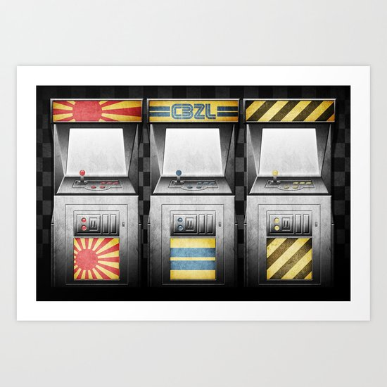Arcade Machines Art Print