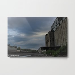 Cargil Grain Elevator and Trains in Buffalo Metal Print
